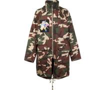 x Nobuyoshi Mantel mit Camouflagemuster