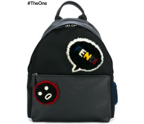 'Faces' Rucksack mit Patches