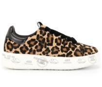 Schnürschuhe mit Leoparden-Print