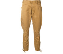 .cropped loose trousers