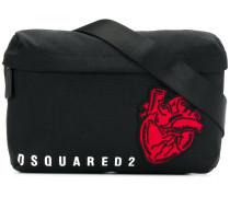 Heart patch crossbody bag