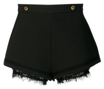 high-waisted lace detail shorts