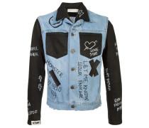 contrast panel 'Doodle' denim jacket