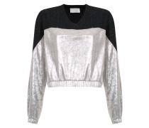 metallic panels sweatshirt