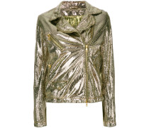 Bikerjacke mit Metallic-Optik