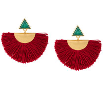 Vergoldete Ohrringe mit Fransen
