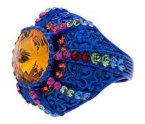 Pincushion Ring mit Kristallen