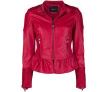 peplum biker jacket
