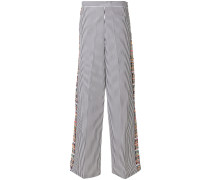 flared striped trousers