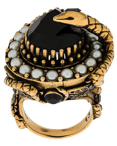 bejewelled snake ring