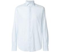 slim-fit cotton blend shirt