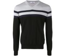 panelled stripe sweater