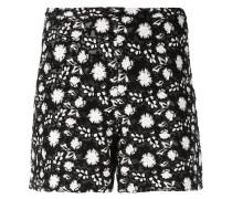Shorts mit Blumenstickerei