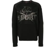 Sweatshirt mit Umhängetaschen-Print