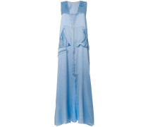 zip front long dress