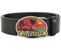 embellished Hawaii buckle belt