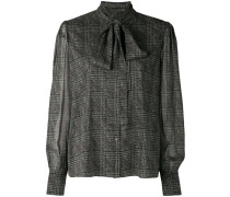 checked longsleeved blouse