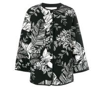 Wattierte Jacke mit Jungel-Print