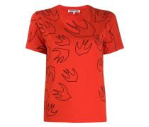 T-Shirt mit Schwalben-Print