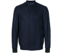 Mandarin collar bomber jacket