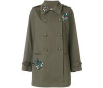 Mantel mit floralem Patch