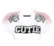 'Cutie Feather' Cropped-Top