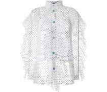 polka dot sheer shirt