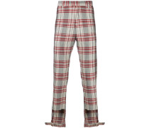 adjustable check trousers
