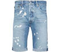 '501' Jeansshorts mit Distressed-Effekt