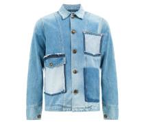 Jeansjacke mit aufgerauten Taschen
