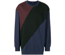 colour-block fitted sweater