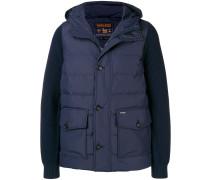 knit sleeve padded jacket