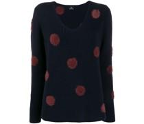 Texturierter Pullover mit Punkten