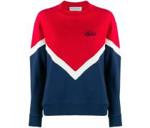 Sweatshirt mit Chevronmuster