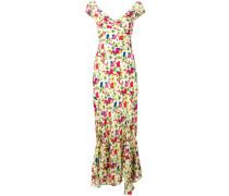 Langes 'Lemon Poppies' Kleid