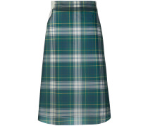 house check skirt