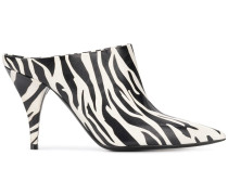 Mules mit Zebra-Print