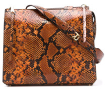 snake effect shoulder bag