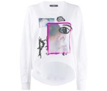 Cropped-Sweatshirt mit grafischem Print