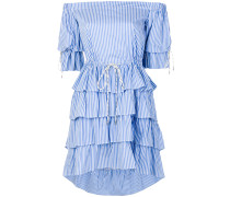 frilled strapless dress