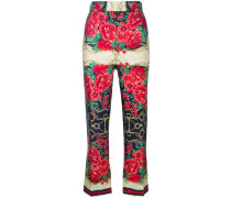 floral chain print trousers