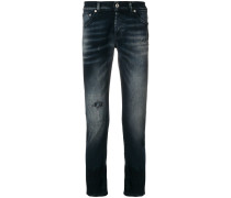 Schmale 'Mius' Jeans mit Distressed-Optik