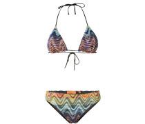 Bikini mit gewebtem Muster