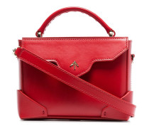 red Bold micro leather cross body bag