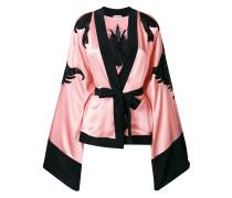 sheer panels kimono jacket