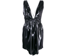 Minikleid mit Metallic-Finish