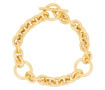 triple-loop chain toggle bracelet
