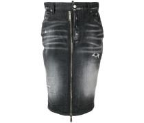 Jeansrock mit Reißverschlussdetail