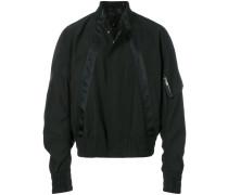 satin trim padded jacket