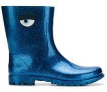 glitter eye printed boots